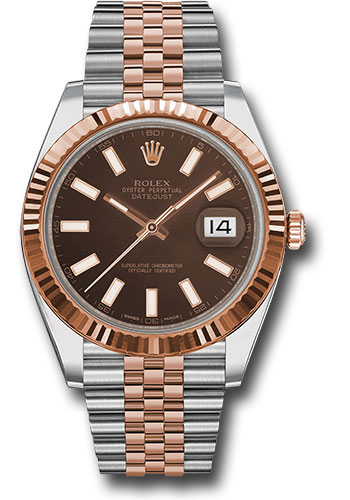 Rolex Watches - Datejust 41 Steel and Pink Gold - Fluted Bezel - Jubilee - Style No: 126331 choij