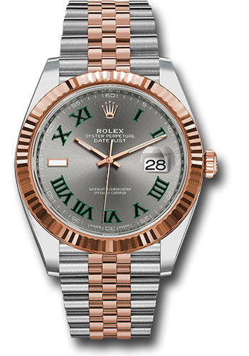 Rolex Watches - Datejust 41 Steel and Pink Gold - Fluted Bezel - Jubilee - Style No: 126331 slgrj