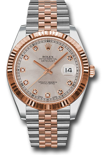 Rolex Watches - Datejust 41 Steel and Pink Gold - Fluted Bezel - Jubilee - Style No: 126331 sudj