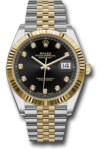 Rolex Watches - Datejust 41 Steel and Yellow Gold - Fluted Bezel - Jubilee - Style No: 126333 bkdj
