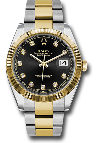 Rolex Watches - Datejust 41 Steel and Yellow Gold - Fluted Bezel - Oyster - Style No: 126333 bkdo