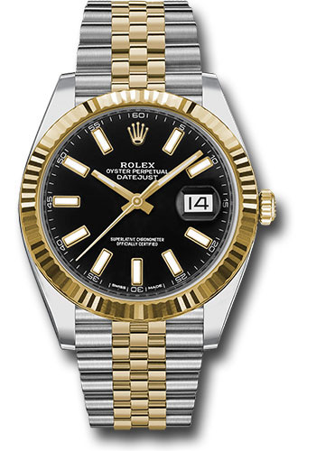 Rolex Watches - Datejust 41 Steel and Yellow Gold - Fluted Bezel - Jubilee - Style No: 126333 bkij