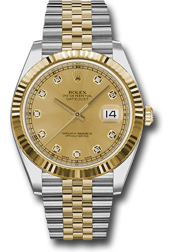 Rolex Watches - Datejust 41 Steel and Yellow Gold - Fluted Bezel - Jubilee - Style No: 126333 chdj