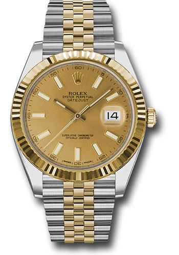 Rolex Watches - Datejust 41 Steel and Yellow Gold - Fluted Bezel - Jubilee - Style No: 126333 chij