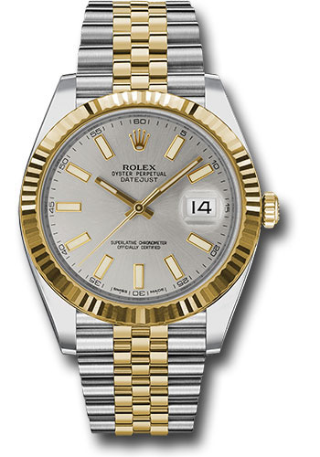 Rolex Watches - Datejust 41 Steel and Yellow Gold - Fluted Bezel - Jubilee - Style No: 126333 sij