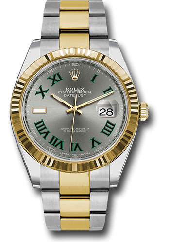 Rolex Watches - Datejust 41 Steel and Yellow Gold - Fluted Bezel - Oyster - Style No: 126333 slgro