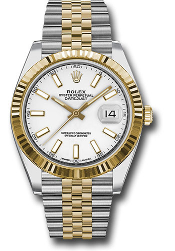 Rolex Watches - Datejust 41 Steel and Yellow Gold - Fluted Bezel - Jubilee - Style No: 126333 wij