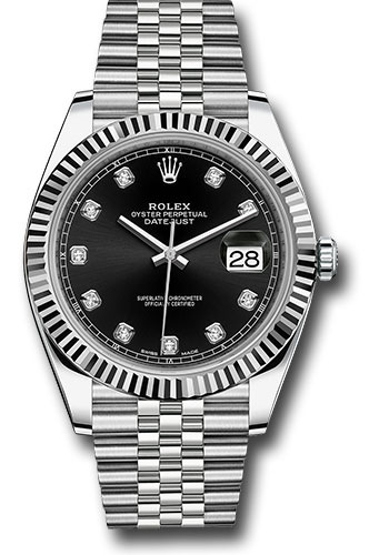 Rolex Watches - Datejust 41 Steel and White Gold - Fluted Bezel - Jubilee - Style No: 126334 bkdj