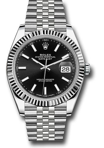 Rolex Watches - Datejust 41 Steel and White Gold - Fluted Bezel - Jubilee - Style No: 126334 bkij