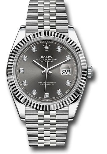 Rolex Watches - Datejust 41 Steel and White Gold - Fluted Bezel - Jubilee - Style No: 126334 dkrdj