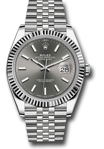 Rolex Watches - Datejust 41 Steel and White Gold - Fluted Bezel - Jubilee - Style No: 126334 dkrij