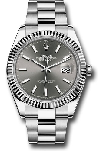 Rolex Watches - Datejust 41 Steel and White Gold - Fluted Bezel - Oyster - Style No: 126334 dkrio