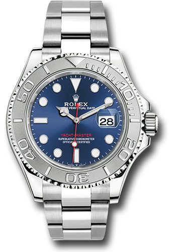 Rolex Watches - Yacht-Master 40 mm - Steel and Platinum - Style No: 126622 blu