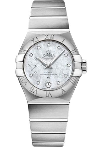 Omega Watches - Constellation Co-Axial Small Seconds - 27 mm - Stainless Steel - Style No: 127.10.27.20.55.001