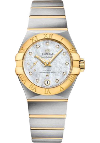Omega Watches - Constellation Co-Axial Small Seconds - 27 mm - Steel and Yellow Gold - Style No: 127.20.27.20.55.002