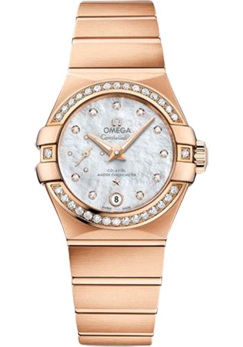 Omega Watches - Constellation Co-Axial Small Seconds - 27 mm - Red Gold - Style No: 127.55.27.20.55.001