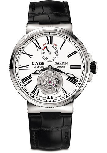 Ulysse Nardin Watches - Marine Tourbillon 43mm - Stainless Steel - Style No: 1283-181/E0