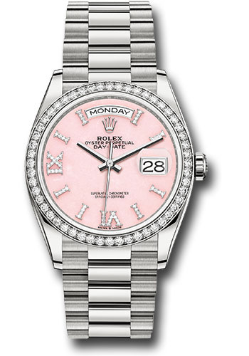 Rolex Watches - Day-Date 36 White Gold - 52 Dia Bezel - President - Style No: 128349RBR podhmp