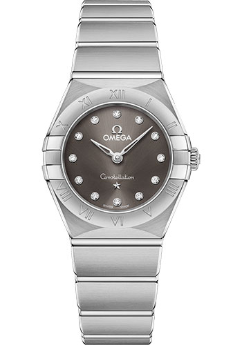 Omega Watches - Constellation Manhattan Quartz 25 mm - Stainless Steel - Style No: 131.10.25.60.56.001