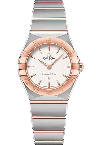 Omega Watches - Constellation Manhattan Quartz 25 mm - Steel and Sedna Gold - Style No: 131.20.25.60.02.001