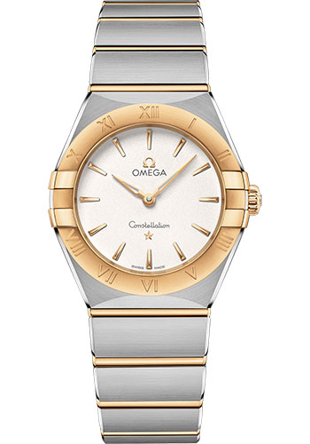 Omega Watches - Constellation Manhattan Quartz 28 mm - Steel and Yellow Gold - Style No: 131.20.28.60.02.002