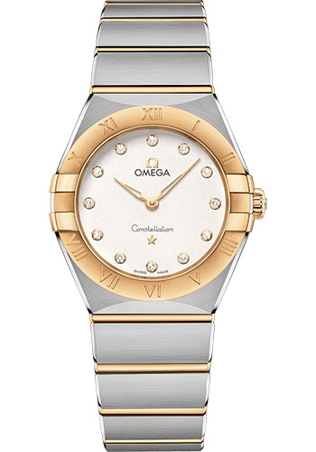 Omega Watches - Constellation Manhattan Quartz 28 mm - Steel and Yellow Gold - Style No: 131.20.28.60.52.002