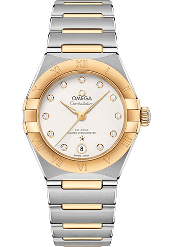 Omega Watches - Constellation Manhattan 29 mm - Steel and Yellow Gold - Style No: 131.20.29.20.52.002