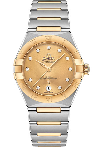 Omega Watches - Constellation Manhattan 29 mm - Steel and Yellow Gold - Style No: 131.20.29.20.58.001