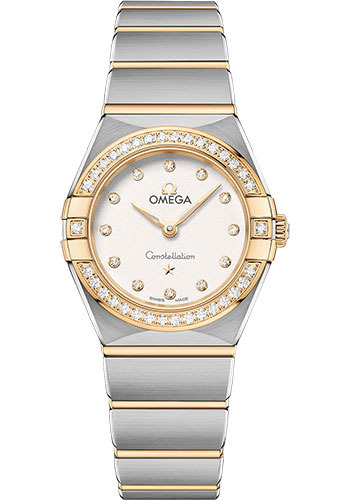 Omega Watches - Constellation Manhattan Quartz 25 mm - Steel and Yellow Gold - Diamond Bezel - Style No: 131.25.25.60.52.002