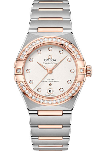 Omega Watches - Constellation Manhattan 29 mm - Steel and Sedna Gold - Diamond Bezel - Style No: 131.25.29.20.52.001