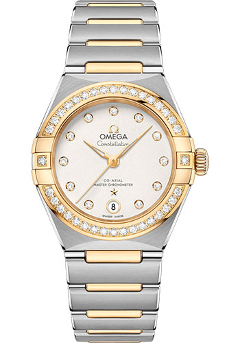 Omega Watches - Constellation Manhattan 29 mm - Steel and Yellow Gold - Diamond Bezel - Style No: 131.25.29.20.52.002