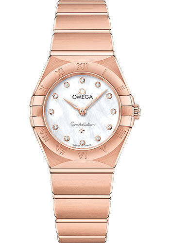 Omega Watches - Constellation Manhattan Quartz 25 mm - Sedna Gold - Style No: 131.50.25.60.55.001