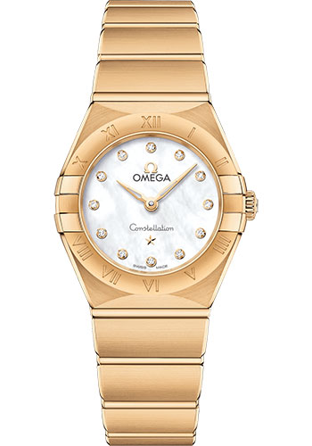 Omega Watches - Constellation Manhattan Quartz 25 mm - Yellow Gold - Style No: 131.50.25.60.55.002
