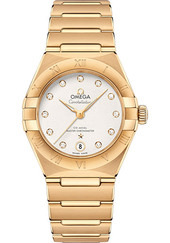 Omega Watches - Constellation Manhattan 29 mm - Yellow Gold - Style No: 131.50.29.20.52.002