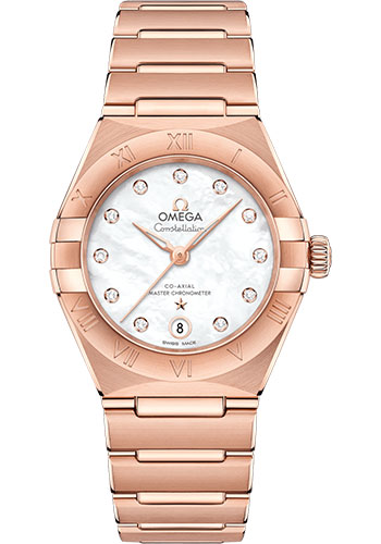 Omega Watches - Constellation Manhattan 29 mm - Sedna Gold - Style No: 131.50.29.20.55.001