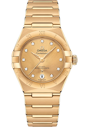 Omega Watches - Constellation Manhattan 29 mm - Yellow Gold - Style No: 131.50.29.20.58.001
