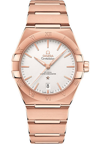 Omega Watches - Constellation Manhattan 39 mm - Sedna Gold - Style No: 131.50.39.20.02.001