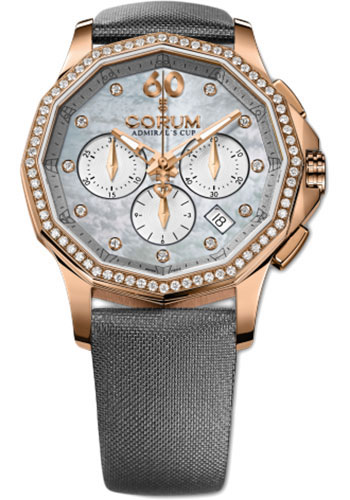 Corum Watches - Admiral Legend 38 mm - Chronograph - Rose Gold - Style No: A132/01689 - 132.101.85/0149 PK10