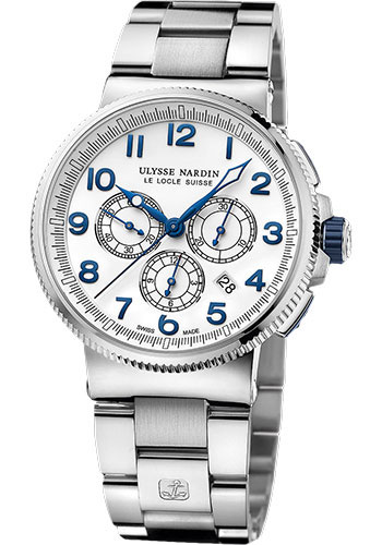 Ulysse Nardin Watches - Marine Chronograph Manufacture Steel And Titanium - Bracelet - Style No: 1503-150-7M/60