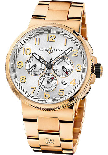 Ulysse Nardin Watches - Marine Chronograph Manufacture Rose Gold - Bracelet - Style No: 1506-150-8M/61