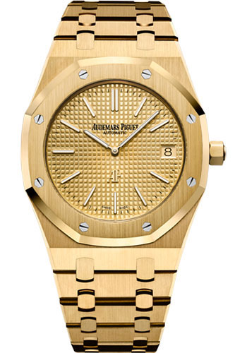 Audemars Piguet Watches - Royal Oak Extra-Thin - Yellow Gold - Style No: 15202BA.OO.1240BA.02.A