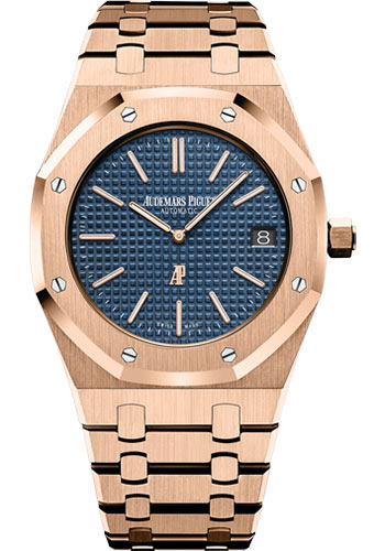 Audemars Piguet Watches - Royal Oak Extra-Thin - Pink Gold - Style No: 15202OR.OO.1240OR.01.A