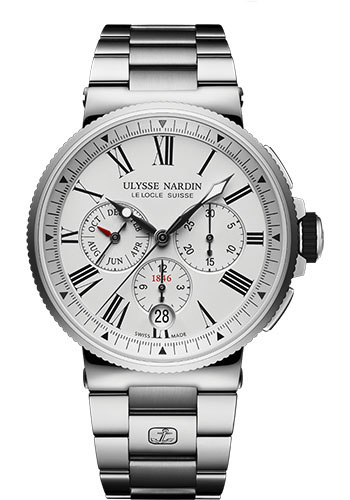 Ulysse Nardin Watches - Marine Chronograph 43mm - Stainless Steel - Bracelet - Style No: 1533-150-7M/40