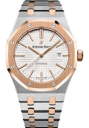 Audemars Piguet Watches - Royal Oak Self Winding 41mm - Steel And Pink Gold - Style No: 15400SR.OO.1220SR.01