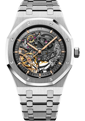 Audemars Piguet Watches - Royal Oak Double Balance Wheel Openworked - Style No: 15407ST.OO.1220ST.01