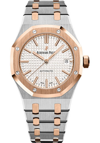Audemars Piguet Watches - Royal Oak Self Winding 37mm - Steel And Pink Gold - Style No: 15450SR.OO.1256SR.01