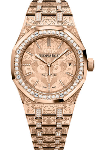 Audemars Piguet Watches - Royal Oak Self Winding 37mm - Pink Gold - Style No: 15456OR.ZG.1251OR.01