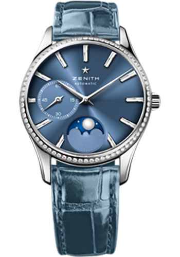 Zenith Watches - Elite Lady Ultra Thin Moonphase Stainless Steel - Style No: 16.2310.692/51.C705