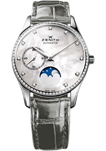 Zenith Watches - Elite Lady Ultra Thin Moonphase Stainless Steel - Style No: 16.2310.692/81.C706