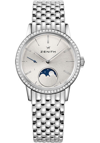 Zenith Watches - Elite Lady Moonphase 33 mm - Steel - Bracelet - Style No: 16.2330.692/01.M2330